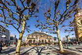 Enjoy the first sunny day of the year at the Hauptwache — Stock Photo