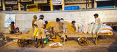 Worker at Chawri Bazaar have a rest — Stock Photo