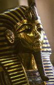 A máscara de ouro de tutankamon no museu egípcio de tge — Foto Stock