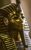 The Gold Mask of Tutankhamun in tge egyptian museum — Stock Photo
