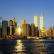 Twin towers in New York in sunset — Stock Photo #21959619