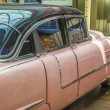 Pink 1956 Cadillac at the airport  — Stock Photo