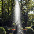 Famous neptune fountain inside the Bolongaro Park - Stock Photo