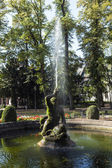 Famous neptune fountain inside the Bolongaro Park — Stock Photo
