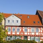 Beautiful half-timbered houses in Frankfurt Hoechst — Stock Photo #22770838