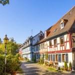 Beautiful half-timbered houses in Frankfurt Hoechst — Stock Photo #22771434