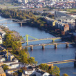 Aerial of Frankfurt an Main with view to river Main — Zdjęcie stockowe #22797396