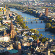 Aerial of Frankfurt an Main with view to river Main — Zdjęcie stockowe #22798566