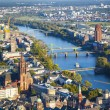 Aerial of Frankfurt an Main with view to river Main — Zdjęcie stockowe #22799038