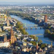 Aerial of Frankfurt an Main with view to river Main — Zdjęcie stockowe #22799306
