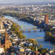 Aerial of Frankfurt an Main with view to river Main — Zdjęcie stockowe #22799796
