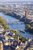 воздушные франкфурта-на-майне с видом реки майн — Стоковое фото
