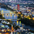 Aerial of Frankfurt an Main with view to river Main — Zdjęcie stockowe #22801336
