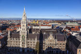 Famous munich marienplatz with town hall - germany - bavaria — Stock Photo