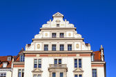 Gable and facade of the old Orlando house in Munich — Stock Photo