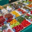 Fresh vegetables and fruits offered at the victualien market in  — Stock Photo