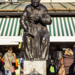 Sculpture of market woman at the Viktualien Market - Stock Photo