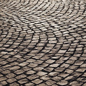 Pattern of old cobble stone street — Foto Stock