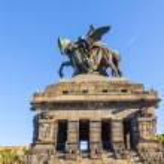 Постер, плакат: Monument to Kaiser Wilhelm I Emperor William on Deutsches Ecke