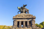 Monument to Kaiser Wilhelm I (Emperor William) on Deutsches Ecke — Stock Photo