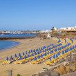 Постер, плакат: Beach of Playa Blanca without in early morning