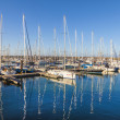 Sailing Boats lie in the harbor Marina Rubicon — Stock Photo