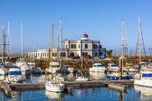 Sailing Boats lie in the harbor Marina Rubicon — Stock Photo