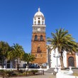 Famous clock tower and church of Nuestra Senora de Guadalupe in — Stock Photo