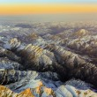 Stock Photo: Aerial of mountains in Tashkent, chinand Kirgistan, covere