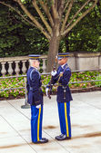 Changing the guard at Arlington national Cemetery in Washington — Stock Photo