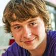 Portrait of happy cute smiling boy - Stockfoto