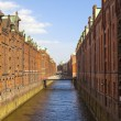Speicherstadt, large warehouse district of Hamburg, Germany — Stock Photo