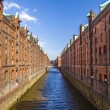 Speicherstadt, large warehouse district of Hamburg, Germany — Stock Photo #24175233