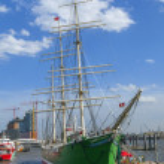 Historic sailor Rickmer Rickmers in Hamburg — Stock Photo