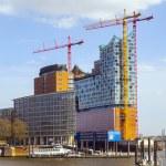 Concert hall Elbphilharmonie under construction in Hamburg, Germ — Stock Photo
