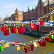 Lockers at the Speicherstadt bridge symbolize love for ever — Stock Photo #24224859