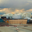 Tank silos at Frankfurt airport — Stock Photo