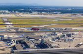 Aerial of airport Frankfurt — Stock Photo