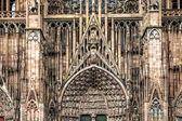 Církevní plastiky v štrasburku katedrála — Stock fotografie
