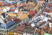 Aerial view of Strasbourg to the old city — Stockfoto