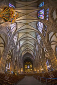 Ceiling of famous Strassbourg Cathedral — Stock Photo