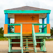 Wooden bay watch huts in Art deco style — Stock Photo #29119565