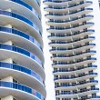 Facade of skyscraper in Sunny Isles — Stock Photo