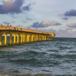 Fishing Pier in Sunny Isles Beach — Stock Photo
