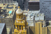 Aerial of modern and historic buildings in downtown Houston — Stock Photo