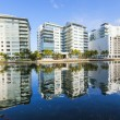 Luxury houses and condos at the canal on Aug 6,2013 in Miami Sou — Stock Photo