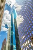 Facade of skyscraper in downtown Houston — Stock Photo