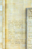 Inscription in the wall of the capotol state monument in Baton R — Stock Photo