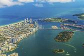 Воздушный город и пляж Майами — Стоковое фото
