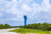 Blue painted Water Tower — Stock Photo